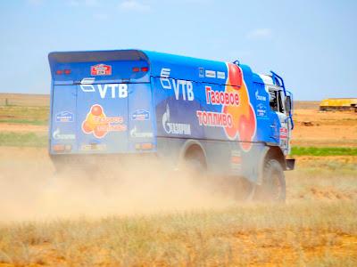 Rajd Silk Way 2013 - ciężarówka KAMAZ CNG