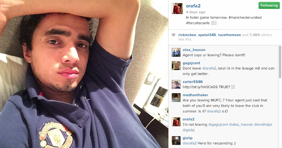 Rafael denies he is leaving Manchester United, with a comment on Instagram