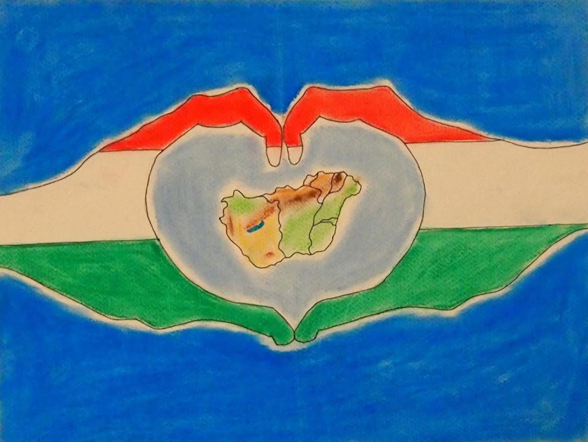 Magyarországot ábrázoló kép.