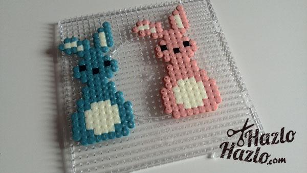 Conejos de Pascua con Hama Beads