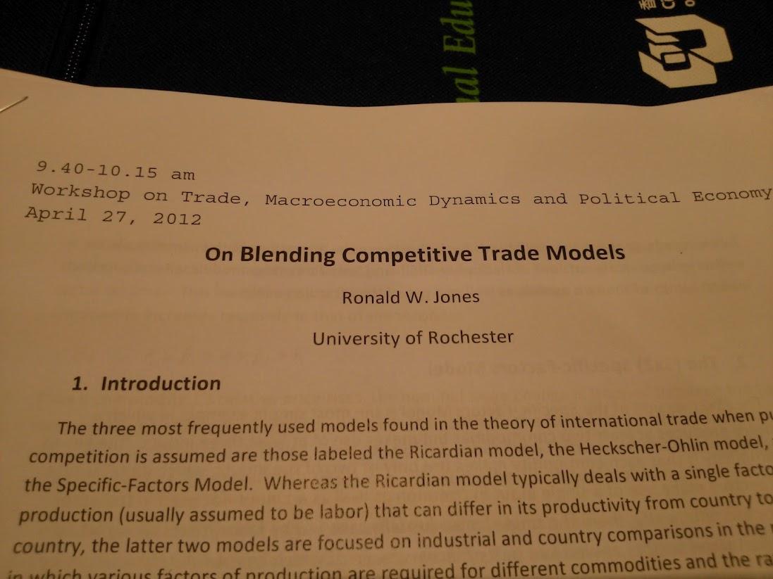 Prof Jones's paper