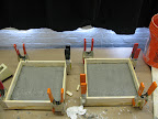 Table top slabs setting