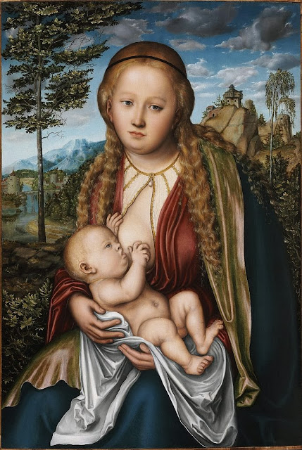 Lucas Cranach the Elder - The Virgin Giving Suck