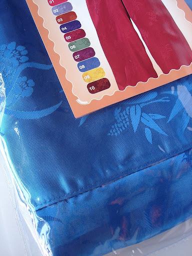 กางเกงแพรจีนแท้รุ่นเอวยาง สีฟ้าสด (กางเกงผู้ชาย กางเกงนอน )