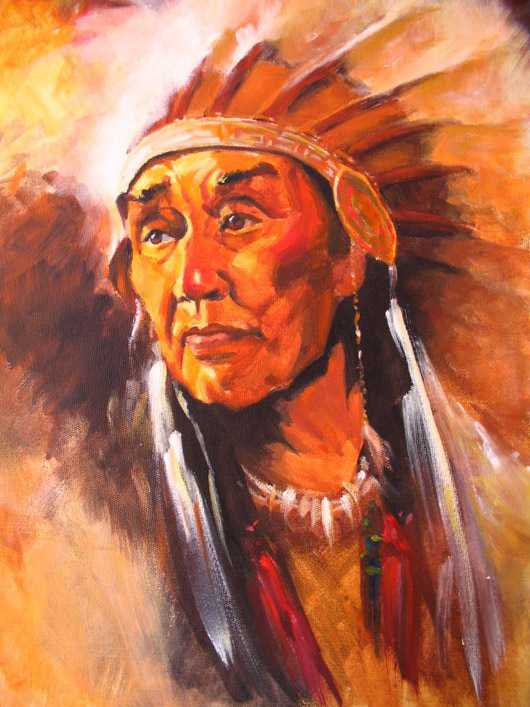 Chief Indian, de Pat Van de Kunsten