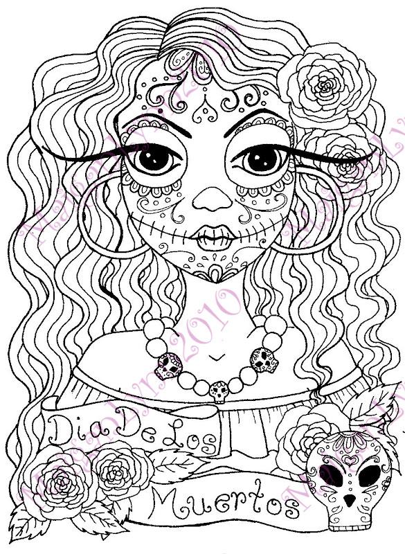 coloring book day of the dead dia de los muertos
