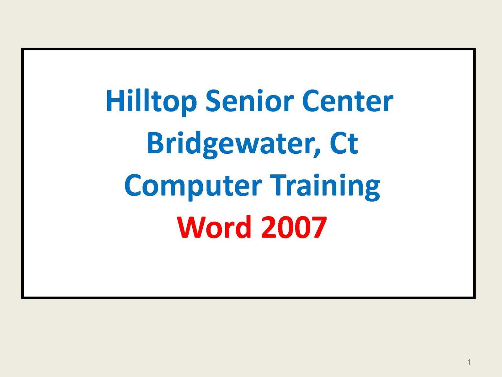 Word 2007 User Manual