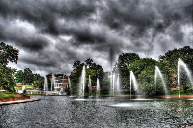 Clemson University Reflecting Pool HDR Photography