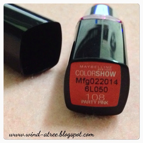 [Review] Maybelline COLOR SHOW #108 Party Pink Lipstick