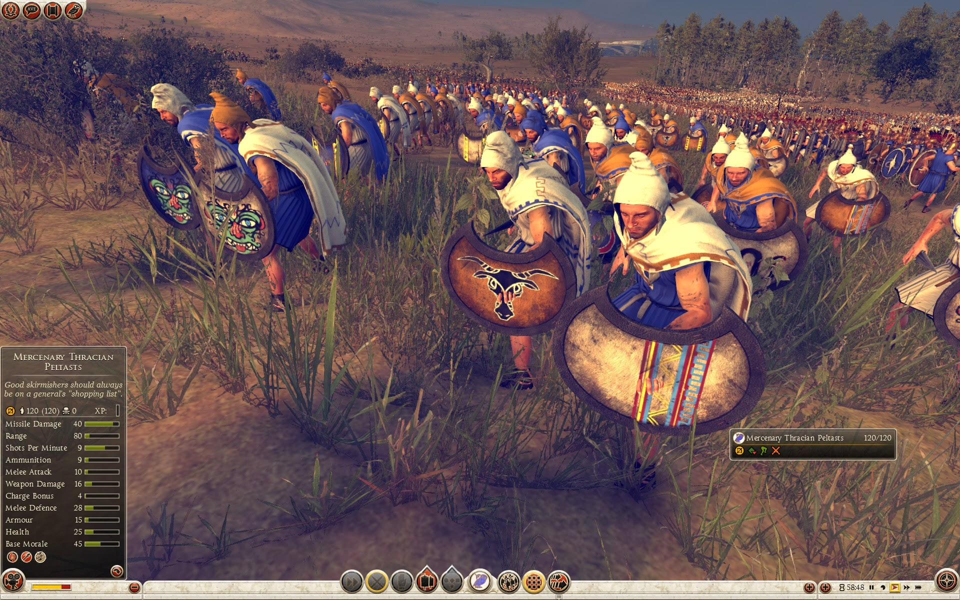 Mercenary Thracian Peltasts
