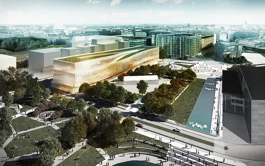 Helsinki public library proposal design by JDS architects