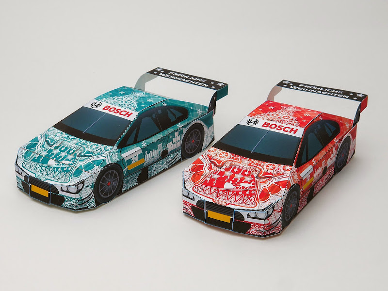 2014 Winter Bosch Race Car Paper Toys