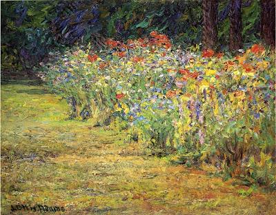 J. Ottis Adams - Flower Border