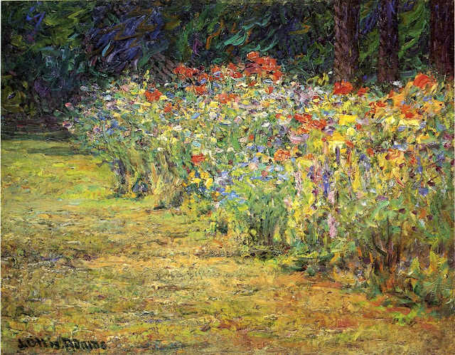 J. Ottis Adams - Flower Border