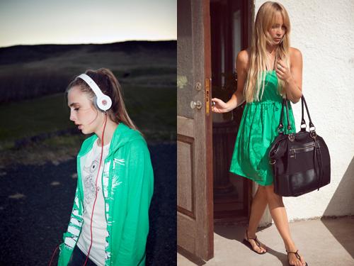 streetstyle kledingmerk Nikita groene jurk beats by dre