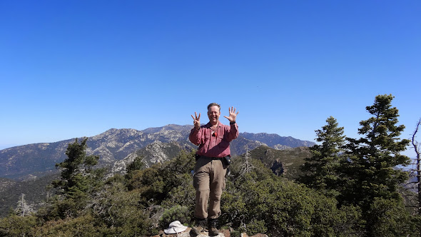 Atop Spitler Peak, number 8 of the Desert Divide Dozen