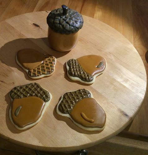 Ciastka lukier królewski deser jesień