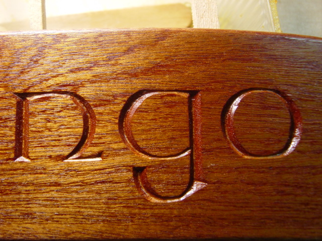 Nameboard chip carving advice