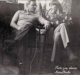 Tata Mirko Smolec i sin Ivica, davno