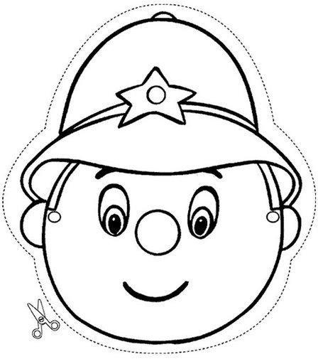 Máscara de Policía para colorear