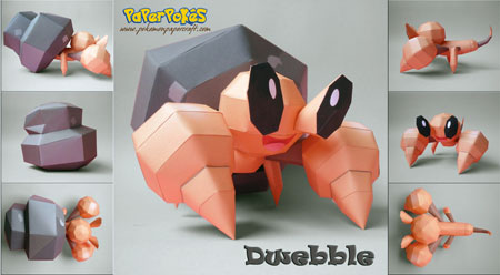 Pokemon Dwebble Papercraft