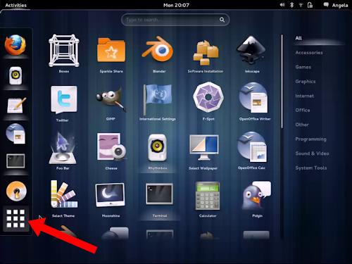 Gnome 3.6 e il nuovo tasto applicazioni nella Dash