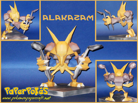 Pokemon Alakazam Papercraft