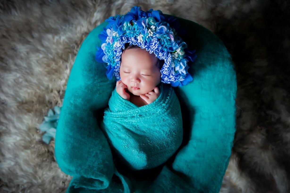 A Newborn sleeping