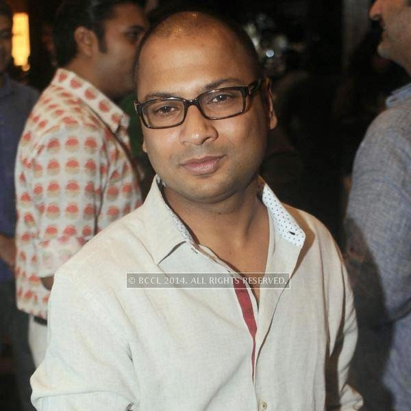 Ankur Modi at fashion designer Anju Modi's show, held in New Delhi.