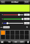 CliqCliq Colors: slide the controls to create colors in RGB, HSB, or CMYK