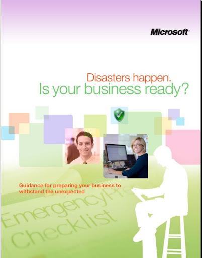 Microsoft Disaster Preparedness eGuide