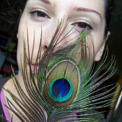Makijaż ślubny próbny pawie oko