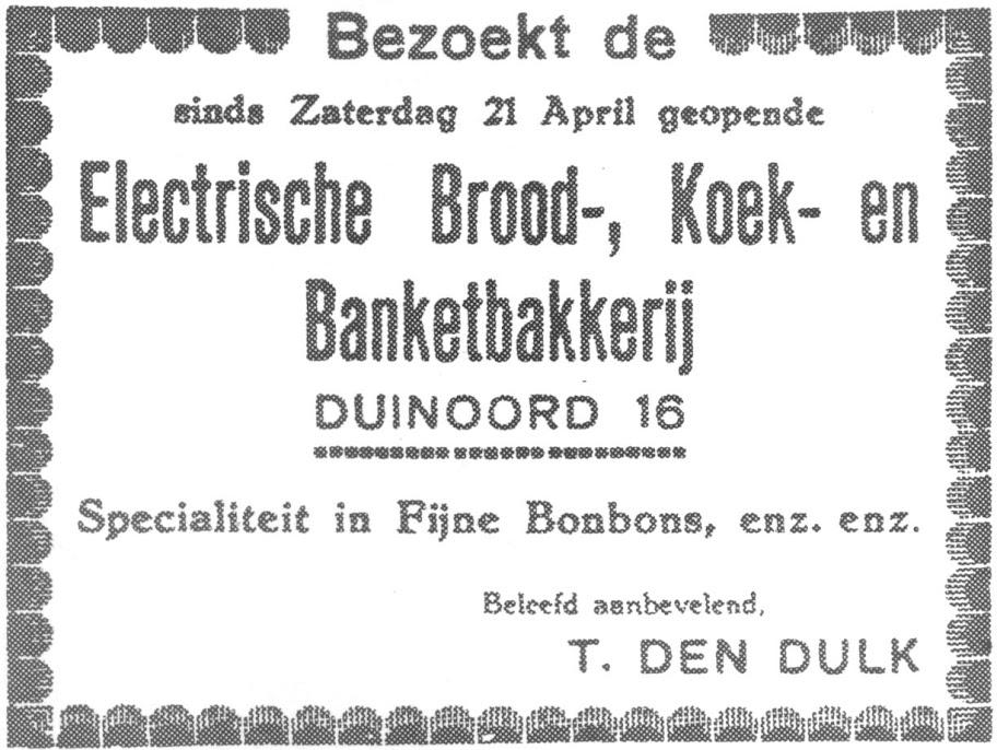 Openingsadvertentie 21-4-1928