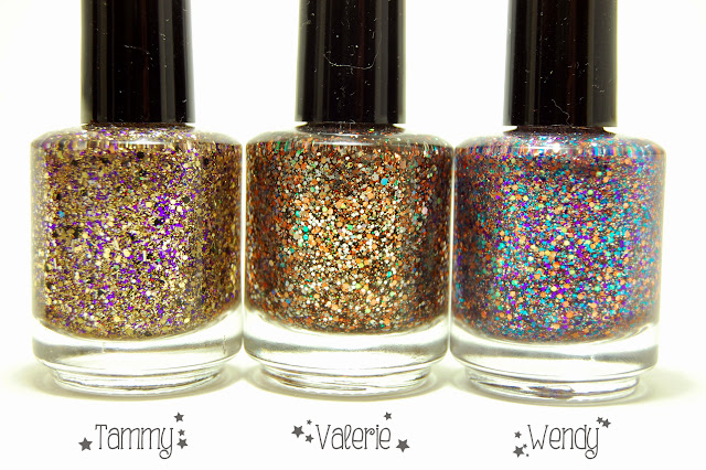 Shimmer Polish Tammy, Valerie, and Wendy