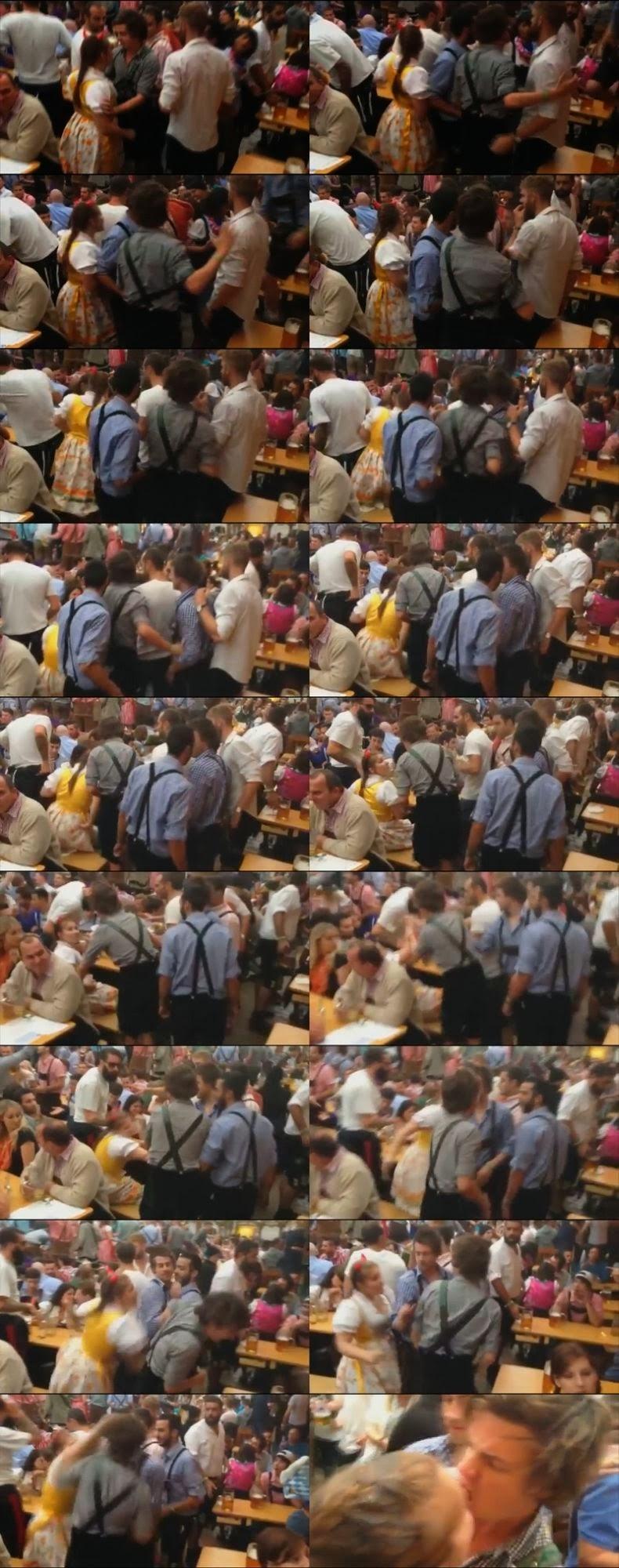 オクトーバーフェストで女性が嫌がらせしてきた男性の唇を噛み切る