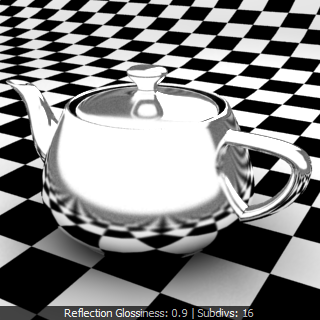 V-Ray Material ว่าด้วยเรื่อง Reflection Glossiness Chrome Rfgc03