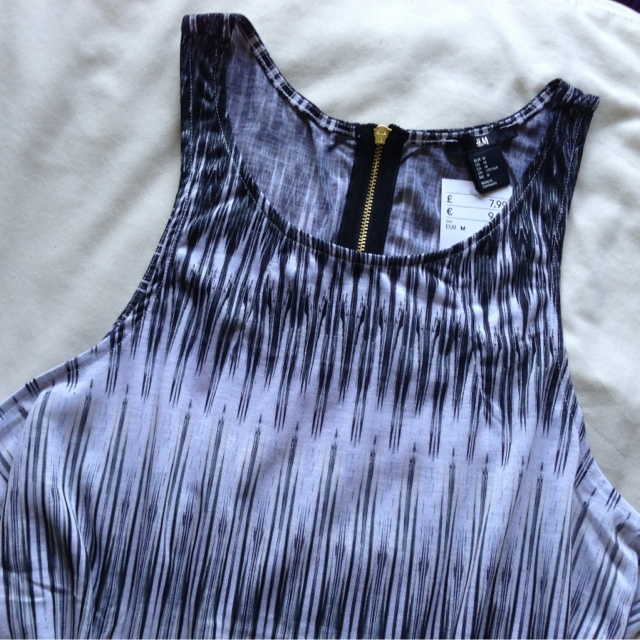 H&M Grey Striped Dress
