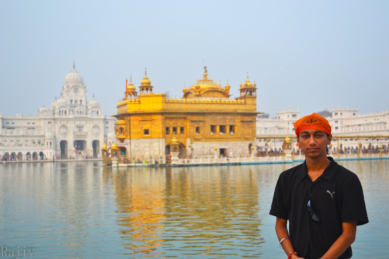 Rajiv at Golden Temple