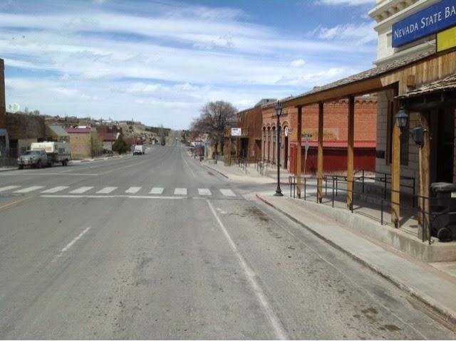 Downtown Eureka Nevada, US Route 50 in Eureka Nevada