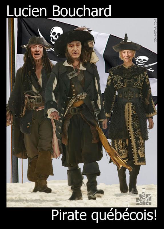 Lucien Bouchard, pirate québécois. Francoise David - Francois Legault - Jean Némar