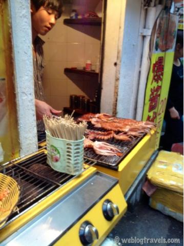 GUlangyu island grilled squid, xiamen