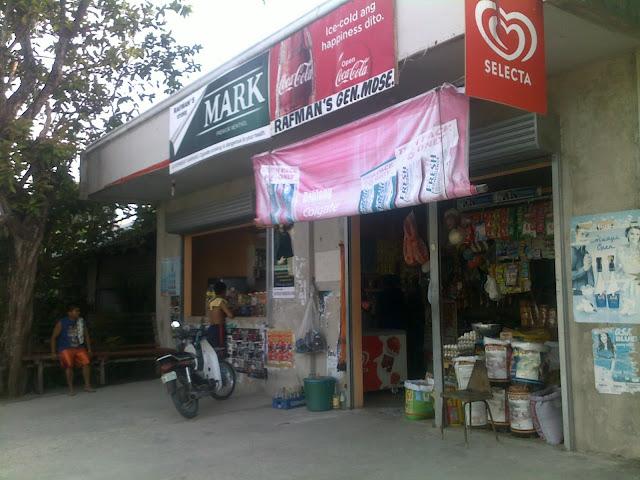 image of sari-sari store serves as water / food stations along the way, cebu distance running, philippines