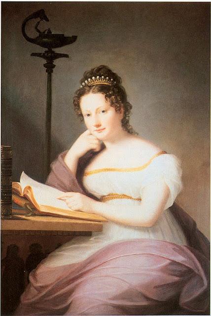 Marie Ellenrieder - Portrait of Amalie of Baden (1795-1869), Princess of Fürstenberg