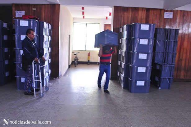 Llegan papeletas electorales al departamento