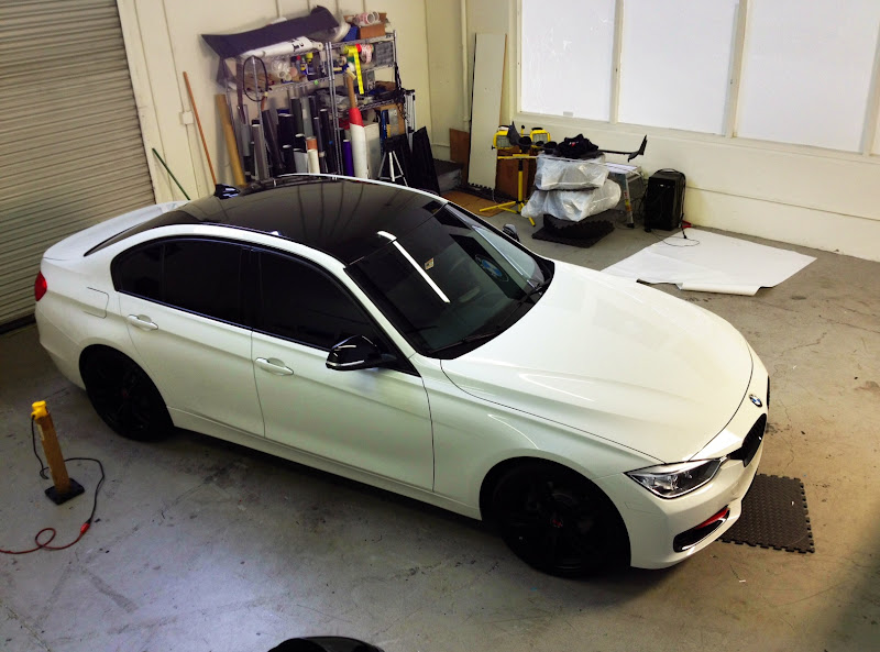 Glossy Black Roof Wraps