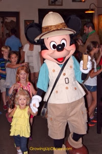 Safari Mickey Mouse in processional at Tusker House