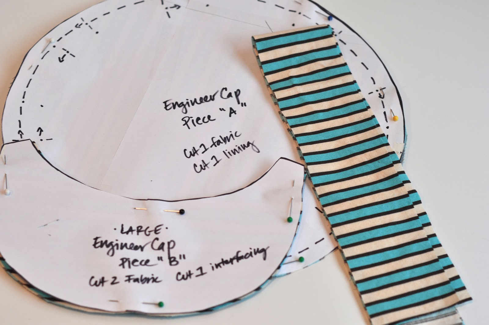 conductor hat template - aesthetic nest sewing engineer cap oh boy tutorial
