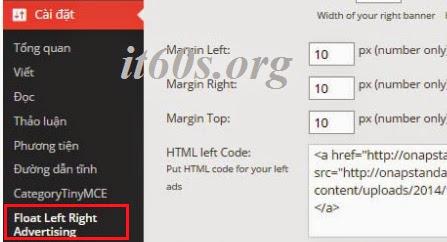 Tạo quảng cáo trượt hai bên trong WordPress đơn giản