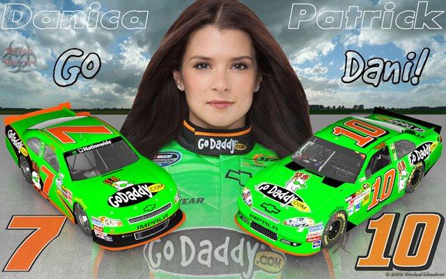 Danica Patrick Go Dani 2012 Wallpaper