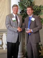Judge Burnette with award winner Chris Fortier (2013)